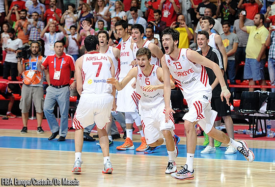 Turkey celebrate after the final whistle
