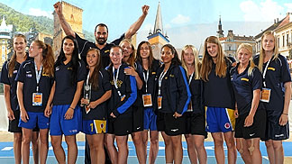Sweden receive the Fair Play Award at the 2012 U16 European Championship Women