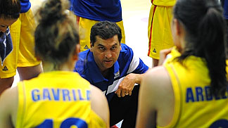 Romania head coach Dan Fleseriu