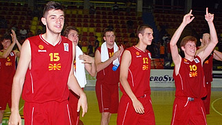 Tournament hosts F.Y.R. of Macedonia opened their campaign with a win over Hungary