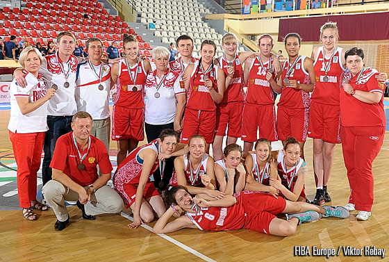Russia win the bronze medal at the 2012 U16 European Championship Women