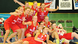 Belgium celebrate a return to the top tier of U20 European Women basketball