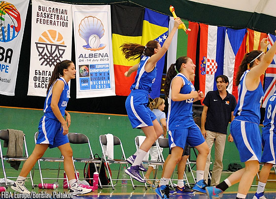 Israel celebrate a famous victory over Great Britain, who remain winless in Albena