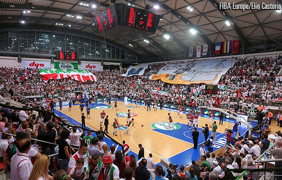Karsiyaka Arena was packed for the hosts' semi-final clash with EWE Baskets Oldenburg