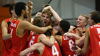 Jubilant Belgians enjoy their semi-final victory