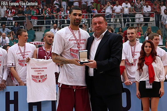 Chester Simmons was named MVP of the 2013 EuroChallenge Final Four