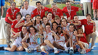 Spain capture the gold medal at the 2012 U16 European Championship Women
